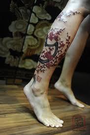60 leg tattoos blossom trees leg tattoos and legs