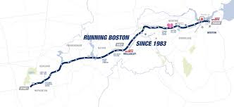 Boston College Map Boston Marathon Route Map 2015