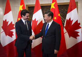 Candaian Flag Canada Blames U S And China For Putting Trudeau In Front Of Fake