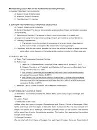 Prentice Hall Inc Science Worksheet Answers Fundamental Counting Principle Lesson Plan Lesson Plan