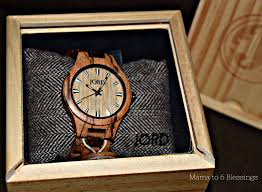 handcrafted wood timepiece by jord giveaway to 6 blessings