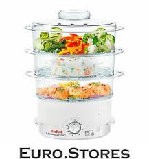 tefal ultra compact steam cuisine vc1006 food steamer 900w white