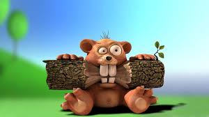cartoon funny angry beaver desktop background wallpaper 1080p
