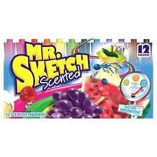 mr sketch scented markers chisel tip 12ct multicolor target