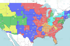 Nfl Tv Schedule Map Nfl Coverage Map Which Nfl Team Are You Stuck Watching Every