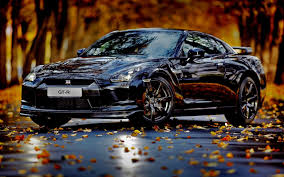 nissan skyline through the years walk with the car through the forest in autumn season