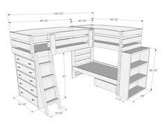 Wonder If A Crib Would Fit Where The Dresser Is Under These Triple - Triple lindy bunk beds