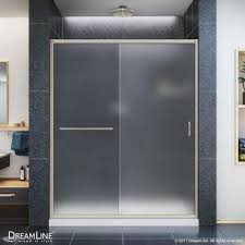 Acrylic Shower Doors Framed Frosted Shower Doors Showers The Home Depot