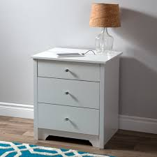 south shore vito nightstand with charging station and drawers pure