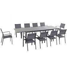 hanover naples 11 piece rectangular patio dining set naplesdn11pc