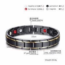 energy bracelet titanium images Energy magnetic health bracelet men brazil couples black titanium jpg