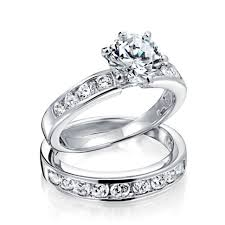 Walmart Jewelry Wedding Rings by Wedding Rings Cubic Zirconia Ring 925 Sterling Silver Bridal