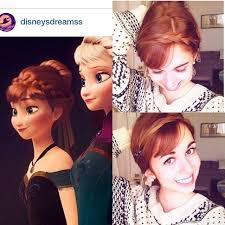 anna from frozen hairstyle how to do your hair like anna and elsa from frozen popsugar moms