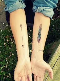 women show awesome simple arrow and feather tattoo golfian com