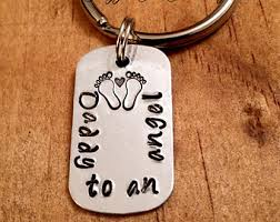 Remembrance Keychain Never In My Arms Always In My Heart Keychain Remembrance