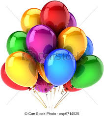 helium birthday balloons multicolor party helium balloons happy birthday balloons stock