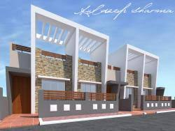 Row House Front Elevation - row bunglow gharexpert row bunglow