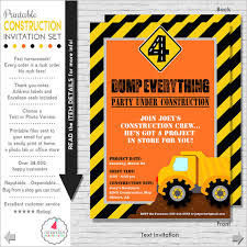 construction party invitation construction birthday