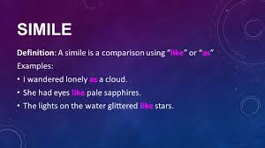 poetic devices part 1 simile metaphor personification ppt