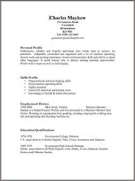 Free Basic Resume Template Exle Of Simple Resume Format Free Basic Doc Format