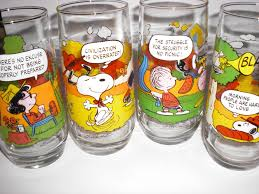 vintage camp snoopy mcdonalds advertising glass cups 4