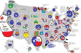 Map Of Us Labeled United States Of Polandball