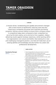 Sample Resume For Purchasing Agent Purchasing Resume Samples Visualcv Resume Samples Database