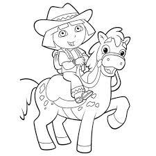 144 dessins de coloriage Dora à imprimer