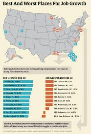 Cities In Florida Map by Graphic The 10 Best And Worst Cities For Job Growth