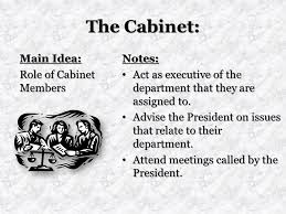 The Cabinet Members Unit 5 The Executive Branch Ppt Video Online Download