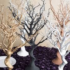 tree centerpieces in gold manzanita tree centerpiece