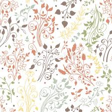 floral seamless pattern decorations leaves flower ornaments