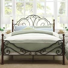 wrought iron bed frame u2014 derektime design romantic and elegant
