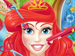 dress up makeup and hair styling games ariel salon salon middot barbie