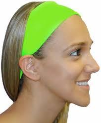 green headband neon lime green spandex fabric elastic headband headbands