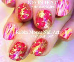 nail art tutorial for short nails glowing print nail design with