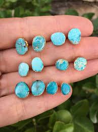 turquoise studs turquoise studs earrings juweeltjes