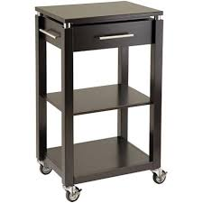 Kitchen Cart On Wheels by Espresso Kitchen Cart The Best Cart