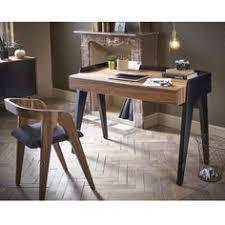 le bureau retro chaise et bureau design en bois et noir pieds laqués noir pour le
