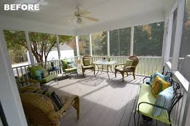screen porch refresh and creating a relaxing oasis worthing court