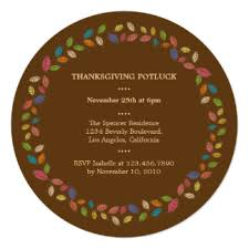 thanksgiving potluck invitations announcements zazzle canada