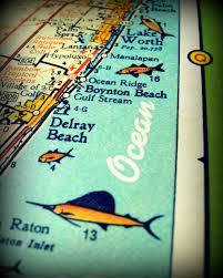 Del Ray Florida Map by Florida Map Art Delray Beach Map Delray Beach House Art Boca