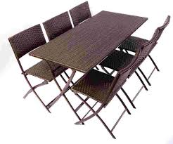 Folding Patio Table And Chair Set Amazing Patiorniture Trend Cheap Big Lots As Folding Table And