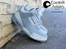 custom l shades online air jordan 3 shades of grey custom by ecentrikshoeart kicks