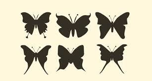 15 butterfly silhouettes psd eps vector illustrations