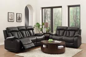 Reclining Leather Chair Homelegance Ackerman Reclining Sofa Set Black Bonded Leather