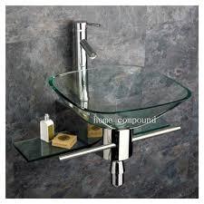 wall mount glass sink small wall mounted bathroom sinks pmcshop