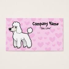 miniature poodle business cards u0026 templates zazzle