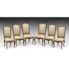 set of six louis xv style carved dining chairs from piatik on ruby