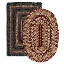 Red Oval Rug Decoration Braided Area Rug Braided Area Rugs Home Depot